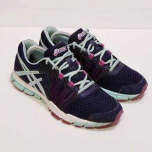 Asics size 8.5 Blue/Purple Running Sneakers S383N